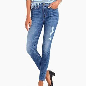 J. Crew High-waist Distressed Skinny Jeans